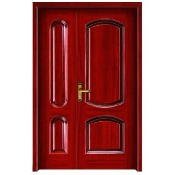 double leaf wooden door