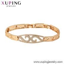 75781 Xuping recién llegado de oro plateado estilo de lujo elegante pulsera de moda para las mujeres