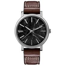 Reloj de cuarzo del acero inoxidable de la manera del nuevo dial del mármol del estilo Bg-086