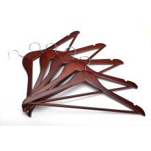 Brown Basic Wooden Hanger Closet Bar Hotel Coat Hanger