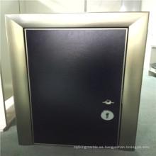 Paneles de panal de aluminio de puerta de color negro