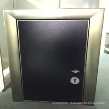 Painéis de favo de mel de porta de alumínio de cor preta