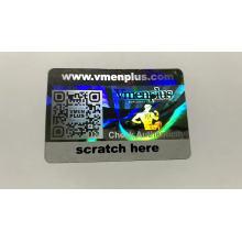 Custom sratch off security 3D hologram sticker/ Laser anti-fake tamper proof packaging label