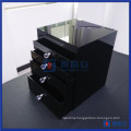 Wholesale Custom Black Acrylic Cosmetic Makeup Organizer