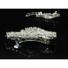 Style simple Silver Rhinestone Hairclip Accessoires pour cheveux Glitter Crystal Barrette