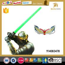 Plástico, criança, jogo, luz, espada, máscara