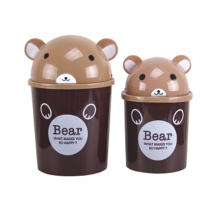 Black Bear Design Plastic Flip-on Garbage Bin (A11-5803)