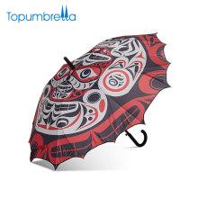 Günstige Gerade Auto Open Chinesische Oper 3D Digital Gedruckte Benutzerdefinierte Logo Regenschirm Für Geschenk