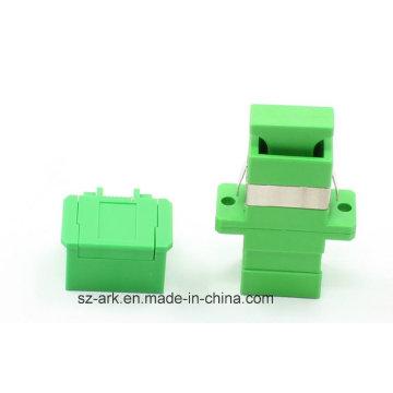 Sc Adaptador Simplex de fibra óptica com obturador