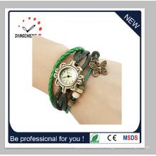 Moda feminina pulseira de diamante de cristal do vintage da senhora relógio de quartzo (dc-1370)