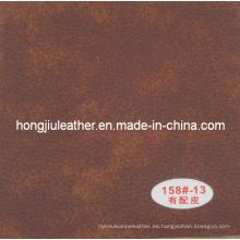 Muebles de cuero con doble color y puede ofrecer colocación de cuero