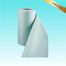 100% Tissu non tissé en coton blanchi