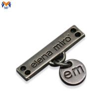 Custom metal letter logo for handbags