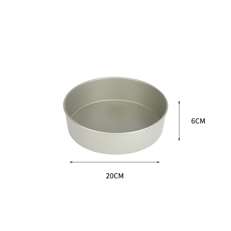 """8""""carbon steel round cake pan with removable bottom (31)"""