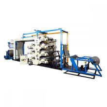 Máquina de impressão da prensa de letras flexíveis rolo a rolo