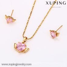 62587-Xuping joyería artificial de la boda mujer joyería conjunto con 18 K chapado en oro