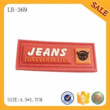 LB369 Etiqueta de goma suave de encargo de la etiqueta de la goma del PVC del bolso de la manera para la ropa
