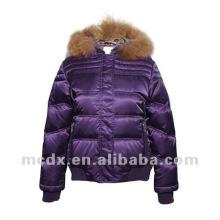 Fashion women winter down coat with fur hood