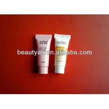 Embalaje cosmético tubo de plástico con tornillo en la tapa