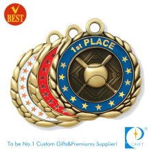 China Custom Alloy Die Casting 2D Baseball Medal for Top Three