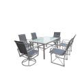 Outdoor sling furniture 7pc dining set-2*1 textilene