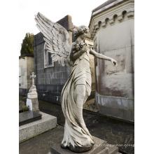 2018 Statues d'ange de cimetière de conception populaire avec le grand prix