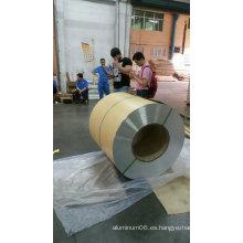 1050 1060 1100 3003 3105 Bobina en relieve de estuco de aluminio con papel Kraft