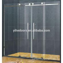 Porte de douche en verre goutte de pluie complète