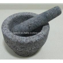 Granit Mörser und Pestles Größe 13X9.5cm
