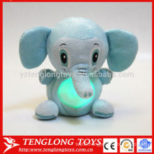 magic kids gift night light animal LED plush toy elephant