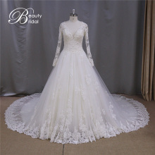 Top Sales Sexy V-Neck Transparent Lace Wedding Dress 2016