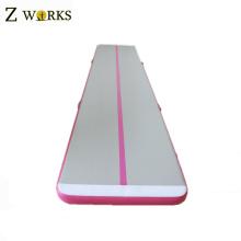 Gymnastique de piste d'air gonflable de matière de PVC de couleur adaptée aux besoins du client