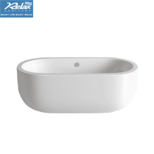 Banheira clássica de cor branca interior oval acrílica