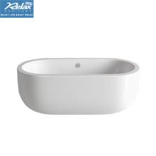 Акриловая овальная крытая белая цветная классическая ванна