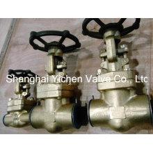 Aço inoxidável de alta pressão válvula de globo de soldagem