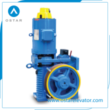 Elevator Parts with Machine Room Lift Used Geared Traction Machine (OS112-YJ140)