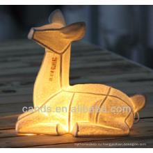 Топ-продажа животных керамический Светильник таблицы для Indoor украшения