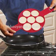 2017 amazon best selling nonstick pancake rings in red Flippin Fantastic pancake mold
