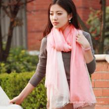 Seda y modales sumergidos teñido mantón bufanda de moda (12-BR030820-1.4)