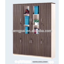 Wooden filing cabinet with four doors