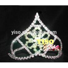 fashion rhinestone green headband wedding tiara