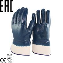 NMSAFETY interlock liner heavy duty nitrile half coated oil industrial work glove