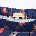 Kate Kasin patrón de las mujeres patrón de cintura elástica plisada de algodón de alta y baja falda KK000805-1