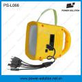 Lanterna solar portátil da energia do poder do painel solar com rádio MP3