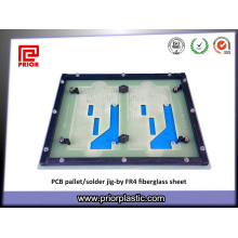 Hoja anterior de la fibra de vidrio plástica Fr4 para la plataforma de la soldadura de la onda