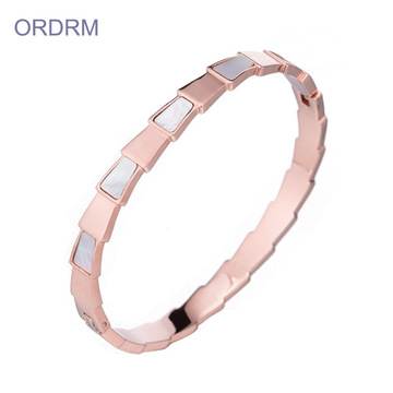 Nya Design Kvinnors Rose Gold Bangle Armband Partihandel