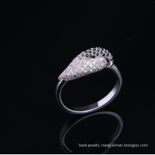 10 year wedding anniversary 925 sterling silver plated ring with ca stone Rhodium plated jewelry is your good pick