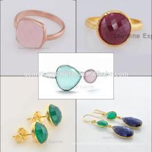 Bijoux en pierres précieuses en argent sterling à la main 925 à la main Fournisseur et fabricant de bijoux en or Vermeil plaqué or