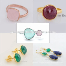 Handmade 925 Sterling Silver Gemstone Jewelry Wholesale Supplier and Manufacturer Gold Vermeil Plated Bezel Jewelry
