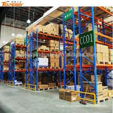 Estante de plataforma de almacenamiento selectivo de metal para sistema de almacén
